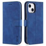 AZNS Skin Feel Calf Texture Horizontal Flip Leather Case with Card Slots & Holder & Wallet For iPhone 13 Mini(Blue)