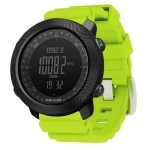 NORTH EDGE Multi-function Waterproof Outdoor Sports Electronic Smart Watch, Support Humidity Measurement / Weather Forecast / Speed Measurement, Style:Silicone Strap(Green)