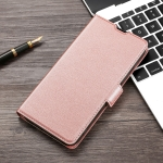 For Xiaomi Redmi Note 9 4G Ultra-thin Voltage Side Buckle PU + TPU Horizontal Flip Leather Case with Holder & Card Slot(Rose Gold)