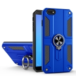 For Huawei Y5 lite (2018) Carbon Fiber Pattern PC + TPU Protective Case with Ring Holder(Dark Blue)