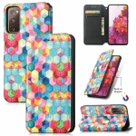 For Samsung Galaxy S20 FE Colorful Magnetic Horizontal Flip PU Leather Case with Holder & Card Slot & Wallet(Magic Space)