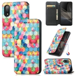 For Sony Xperia Ace II Colorful Magnetic Horizontal Flip PU Leather Case with Holder & Card Slot & Wallet(Magic Space)