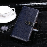 For Tecno Spark 7P idewei Crocodile Texture Horizontal Flip Leather Case with Holder & Card Slots & Wallet(Dark Blue)