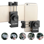 YELANGU PC03 Folding Phone Holder Horizontal Vertical Shooting Phone Clamp Holder Bracket (Black)