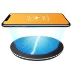10W Lightweight Portable Smart Wireless Charger(Black)