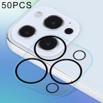 50 PCS HD Anti-glare Rear Camera Lens Protector Tempered Glass Film For iPhone 13 Pro Max