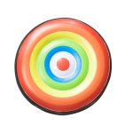 PVC Round Household Creative Inflatable Wall-mounted Boxing Target (Rainbow)