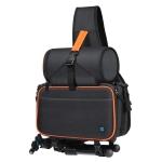 PULUZ Triangle Style SLR Camera Bag Sling Waterproof Backpack Shoulder Messenger Bags with Removable Lens Bag (Black)