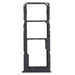 SIM Card Tray + SIM Card Tray + Micro SD Card Tray for Samsung Galaxy M12 SM-M127 (Black)