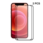 2 PCS ENKAY Hat-Prince Full Glue 0.26mm 9H 2.5D Tempered Glass Screen Protector Full Coverage Film For iPhone 13 Pro Max
