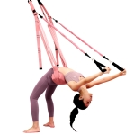 Home Yoga Stretch Band Backbend Handstand Training Rope With Cushion, Specification: With Drawstring Pink
