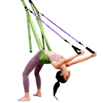 Home Yoga Stretch Band Backbend Handstand Training Rope With Cushion, Specification: With Drawstring Green