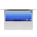 10 PCS Laptop Dust-Proof Waterproof Keyboard Film For MacBook Air 13.3 Inch A2337 2020 US Version (Gradient Blue)