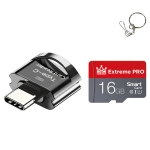 C10 TYPE-C Interface Mobile Phone Memory Card, Capacity: 16GB(Black)