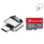 C10 TYPE-C Interface Mobile Phone Memory Card, Capacity: 64GB(Silver Gray)