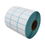 Three-Proof Thermal Paper Three-Row Bar Code Non-Adhesive Printing Paper, Size: 25 x 15mm (10000 Pieces)