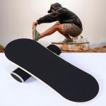 Surfing Ski Balance Board Roller Wooden Yoga Board, Specification: 05B Black Sand