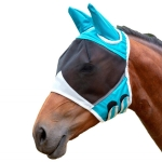 Elastic Breathable Horse Mask Anti-Mosquito And Insect-Proof Cover, Specification: S: 71x112x35cm(Blue)