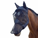 Summer Anti-Mosquito Breathable And Comfortable Horse Mask XL(Black)