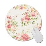 3 PCS Round Rose Flower Rubber Cloth Mouse Pad Heat Transfer Non-Slip Mouse Pad, Size:  20 x 20cm(Rose 4)