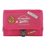 Msquare Travel Suit Toiletry Bag Cosmetic Storage Bag, Colour: Three-fold Red