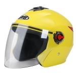 BYB 709 Electric Motorcycle Men And Women Universal Four Seasons Riding Half Helmet(Yellow (Transparent Anti-fog Lens))