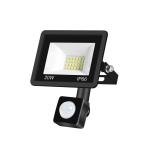20W PIR LED Spotlight Outdoor Project Light Waterproof Garden Energy-Saving Lighting Floodlight, Style:(Cold White Light)