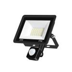 30W PIR LED Spotlight Outdoor Project Light Waterproof Garden Energy-Saving Lighting Floodlight, Style:(Cold White Light)
