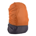 2 PCS Outdoor Mountaineering Color Matching Luminous Backpack Rain Cover, Size: S 18-30L(Gray + Orange)