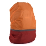 2 PCS Outdoor Mountaineering Color Matching Luminous Backpack Rain Cover, Size: S 18-30L(Red + Orange)