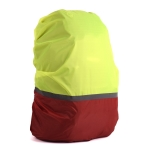 2 PCS Outdoor Mountaineering Color Matching Luminous Backpack Rain Cover, Size: S 18-30L(Red + Fluorescent Green)