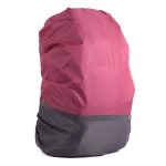 2 PCS Outdoor Mountaineering Color Matching Luminous Backpack Rain Cover, Size: M 30-40L(Gray + Pink)