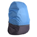 2 PCS Outdoor Mountaineering Color Matching Luminous Backpack Rain Cover, Size: L 45-55L(Gray + Blue)
