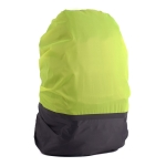 2 PCS Outdoor Mountaineering Color Matching Luminous Backpack Rain Cover, Size: XL 58-70L(Gray + Fluorescent Green)