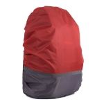 2 PCS Outdoor Mountaineering Color Matching Luminous Backpack Rain Cover, Size: XL 58-70L(Gray + Red)