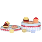 Girl Birthday Gift Simulation Cake Play House Kitchen Wooden Toys(Cake Tower)