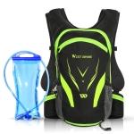 WEST BIKING YP1602798 Riding Backpack with Water Bag Set Outdoor Casual Travel Shoulder Bag, Size: 16L(Black Green)