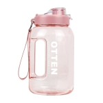 OTTEN 01 Large-Capacity Plastic Water Cup Outdoor Cycling Sports Fitness Kettle, Capacity: 2.5L(Pink)