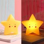 3 PCS Stars Night Light Baby Care Bedside Decoration Light(Yellow)