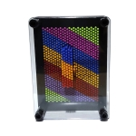 Colorful Handprint Needle Painting 3D Stereo Hand Makrolon Needle, Size: Extra Large 25 x 20cm(Black Frame)