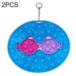 2 PCS Children Silicone Desktop Educational Decompression Toy, Style: Fish (Blue)
