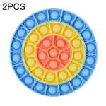2 PCS Children Silicone Desktop Educational Decompression Toy, Style: Round (Blue)