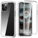 C1 2 in 1 Shockproof TPU + PC Protective Case with PET Screen Protector For iPhone 12 Pro Max(Transparent Matte)