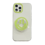 Graffiti Smiley Holder Shockproof TPU Protective Case For iPhone 11 Pro(Green)