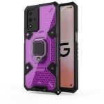 For OPPO A93s 5G/A93 5G/A74 Space PC+TPU Shockproof Case with Ring Holder(Purple)