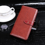 For Vivo iQOO 8 Pro idewei Crocodile Texture Horizontal Flip Leather Case with Holder & Card Slots & Wallet(Red)