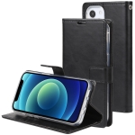 GOOSPERY BLUE MOON Crazy Horse Texture Horizontal Flip Leather Case with Holder & Card Slot & Wallet For iPhone 13(Black)
