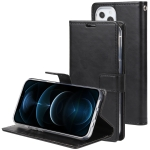 GOOSPERY BLUE MOON Crazy Horse Texture Horizontal Flip Leather Case with Holder & Card Slot & Wallet For iPhone 13 Pro(Black)