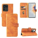 Solid Color Skin Feel Magnetic Buckle Horizontal Flip Calf Texture PU Leather Case with Holder & Card Slots & Wallet For Xiaomi Mix 4(Brown)