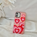 Thickened TPU Shockproof Protective Case For iPhone 12 Pro(Pink Red Love)